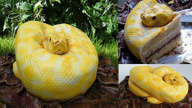 albino snake cake