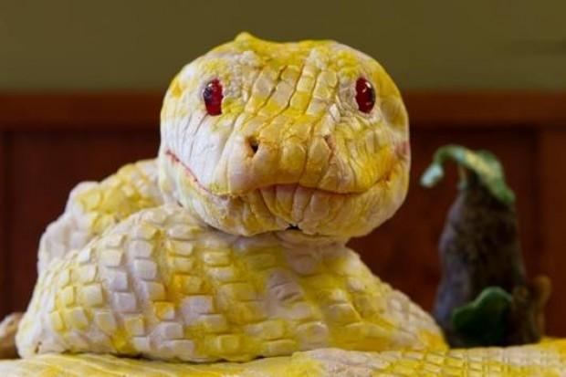 face shot snake cake