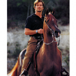 Patrick Swayze and his horse Tammen